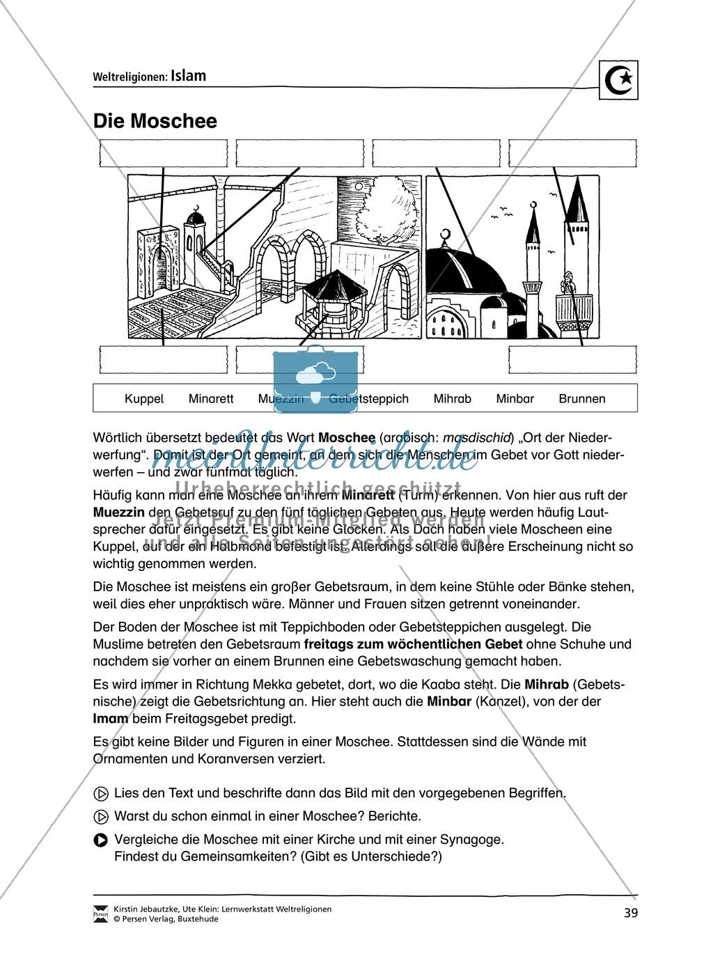 Unterrichtsmaterial zum Islam - mit Infomaterial zu Gottheit, Koran, Moscheen, Feiertagen uvm. Preview 5