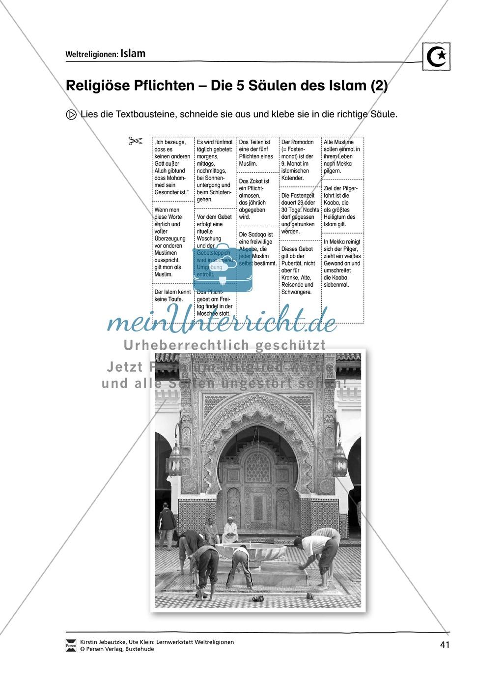 Unterrichtsmaterial zum Islam - mit Infomaterial zu Gottheit, Koran, Moscheen, Feiertagen uvm. Preview 7