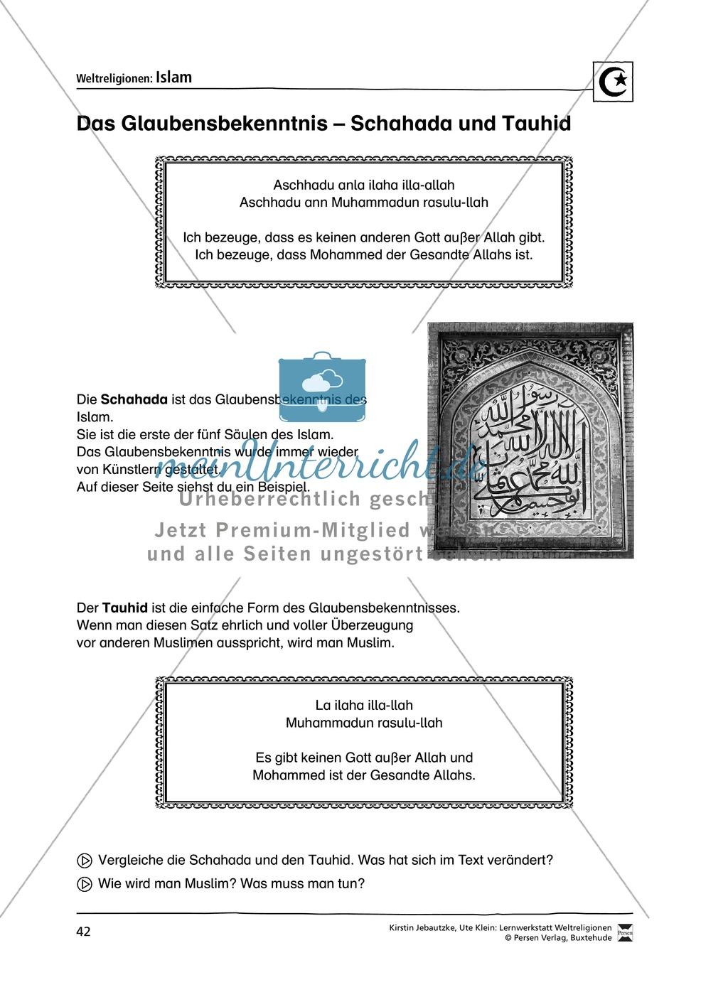 Unterrichtsmaterial zum Islam - mit Infomaterial zu Gottheit, Koran, Moscheen, Feiertagen uvm. Preview 8