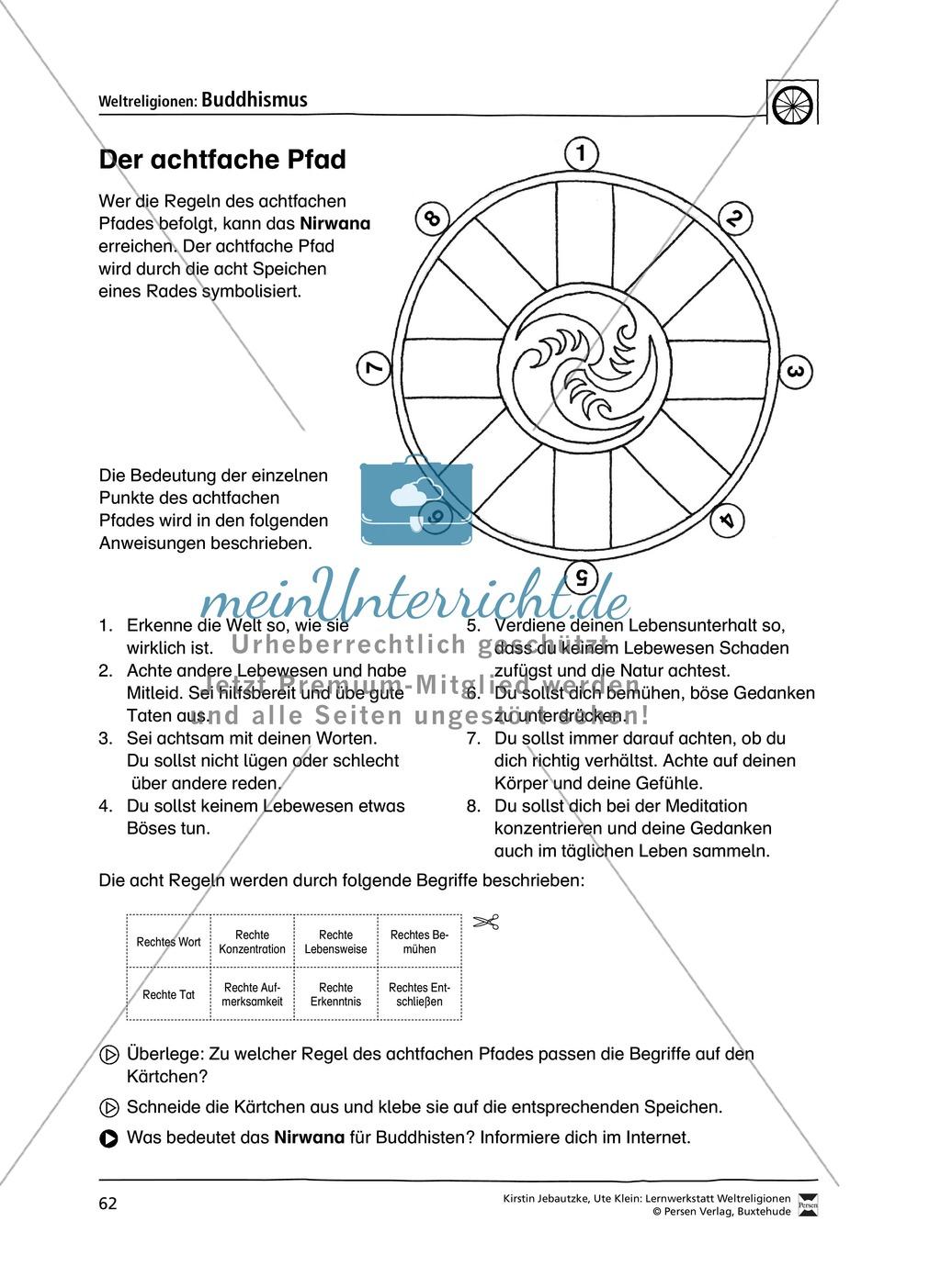 Unterrichtsmaterial zum Buddhismus - mit Infomaterial zu Buddha ...