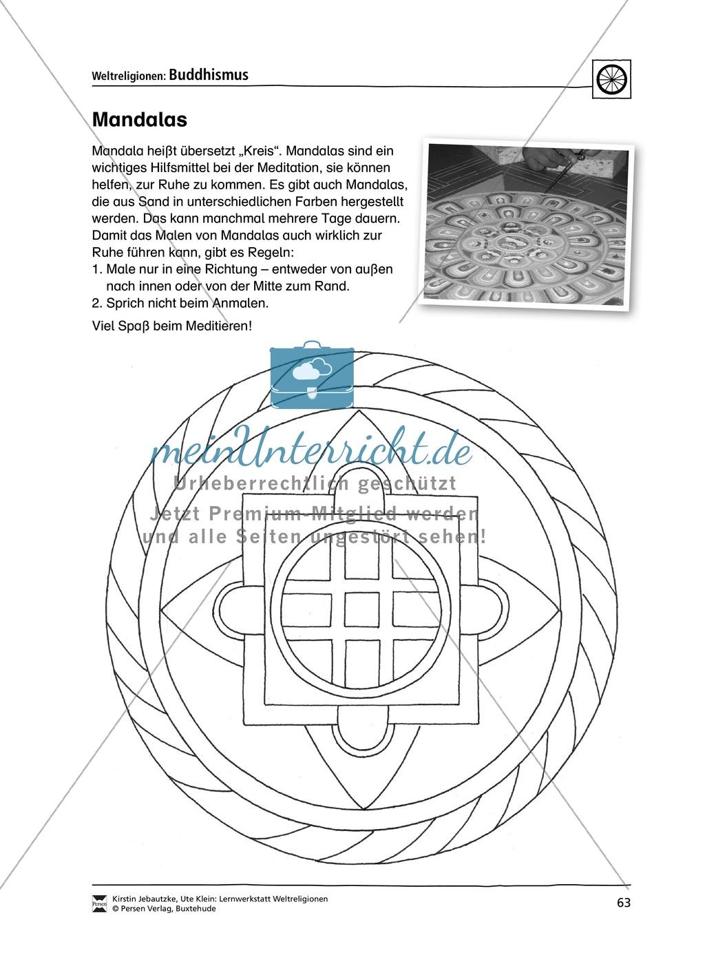 Unterrichtsmaterial zum Buddhismus - mit Infomaterial zu Buddha, Regeln, Stupas und Tempel, Feiertagen uvm. Preview 5