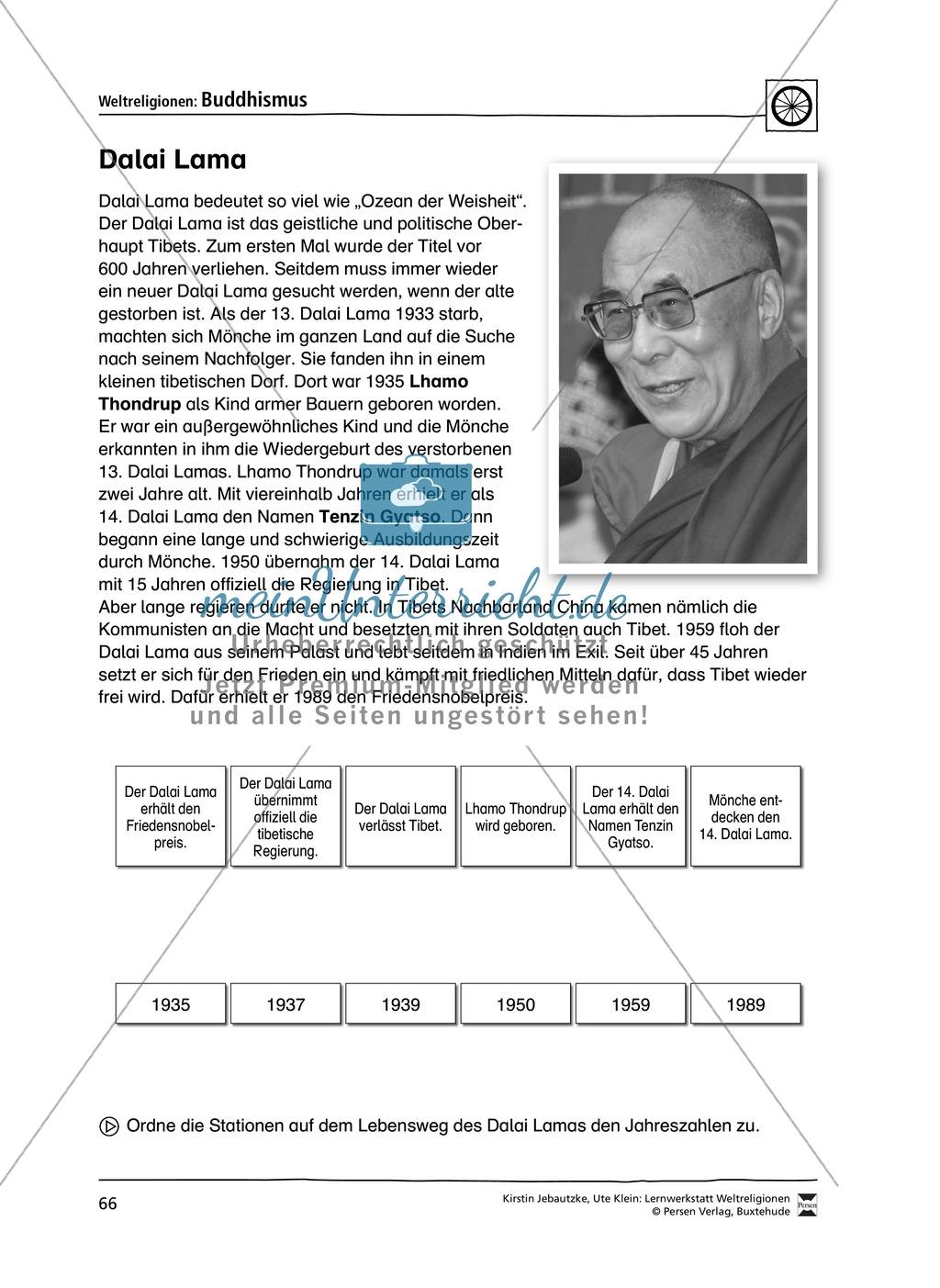 Unterrichtsmaterial zum Buddhismus - mit Infomaterial zu Buddha, Regeln, Stupas und Tempel, Feiertagen uvm. Preview 8