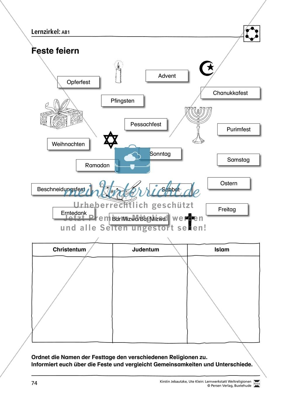 Stationenlernen zu den Weltreligionen Judentum, Christentum und Islam Preview 6