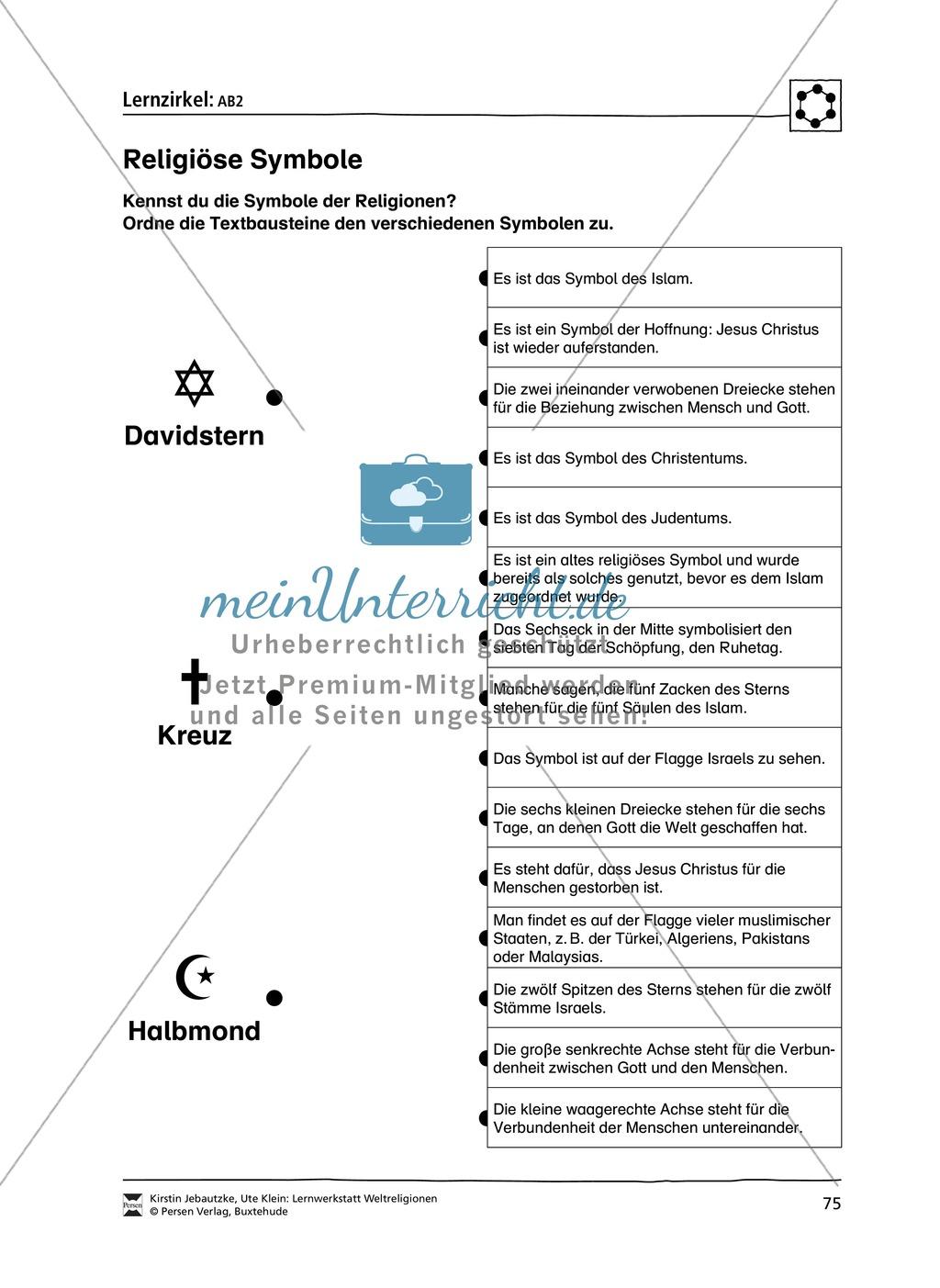 Stationenlernen zu den Weltreligionen Judentum, Christentum und Islam Preview 7
