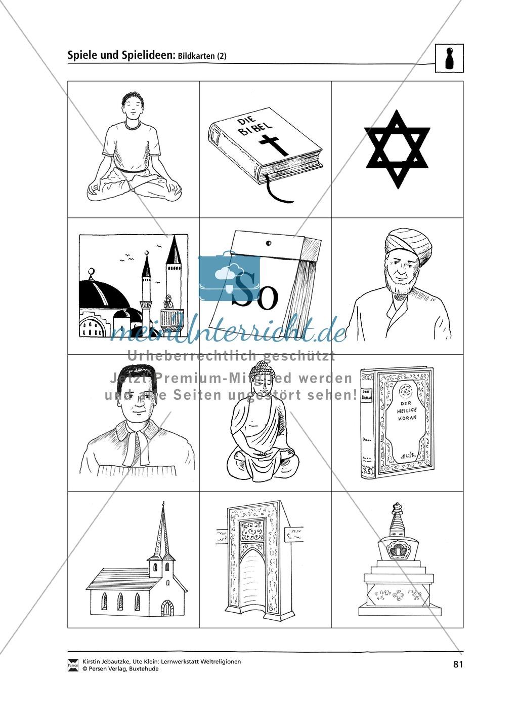 Drei Spiele zum Thema Weltreligionen - Judentum, Christentum und Islam Preview 2