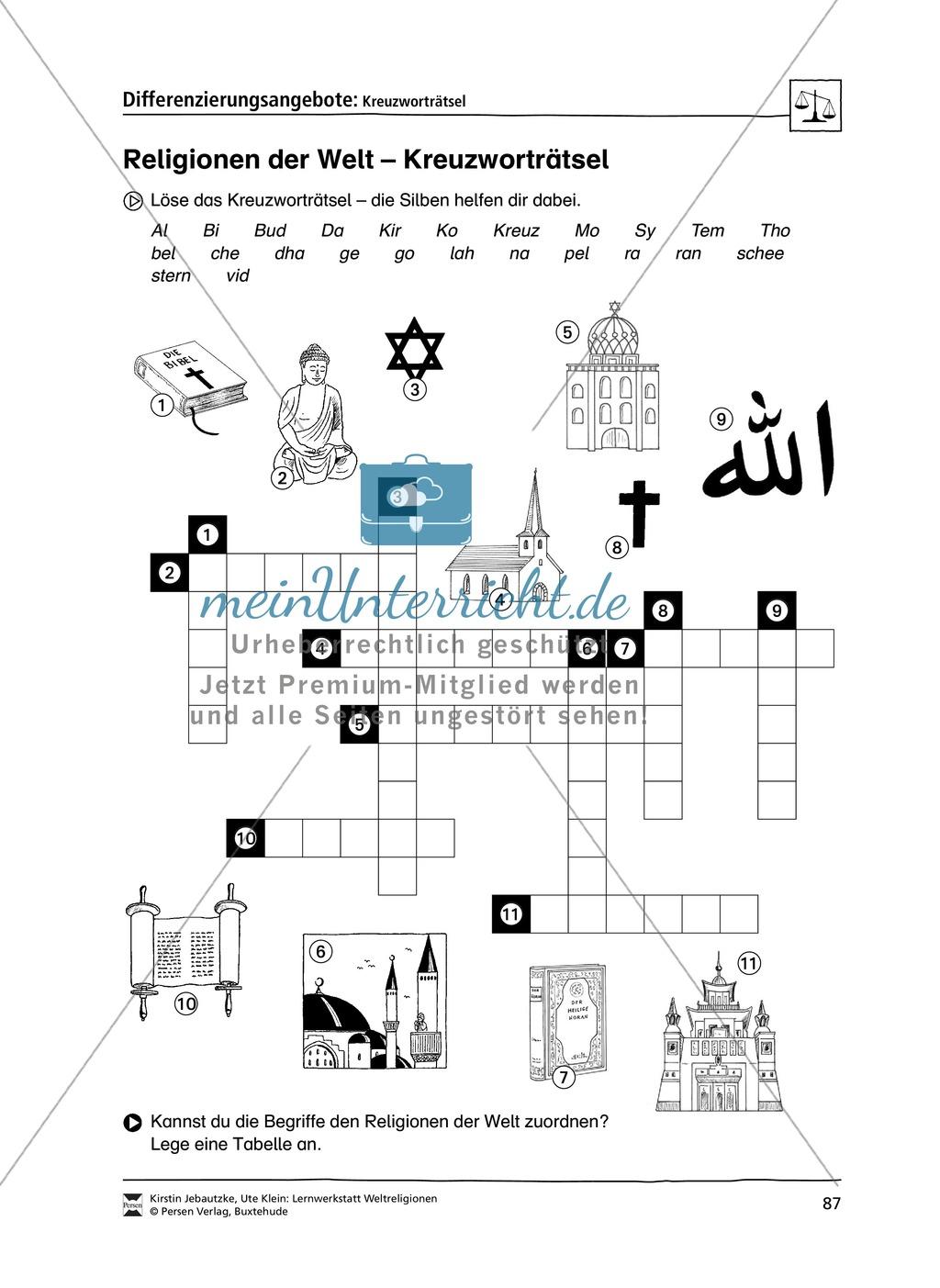 Lernwerkstatt zu den Weltreligionen Judentum, Christentum und Islam ...