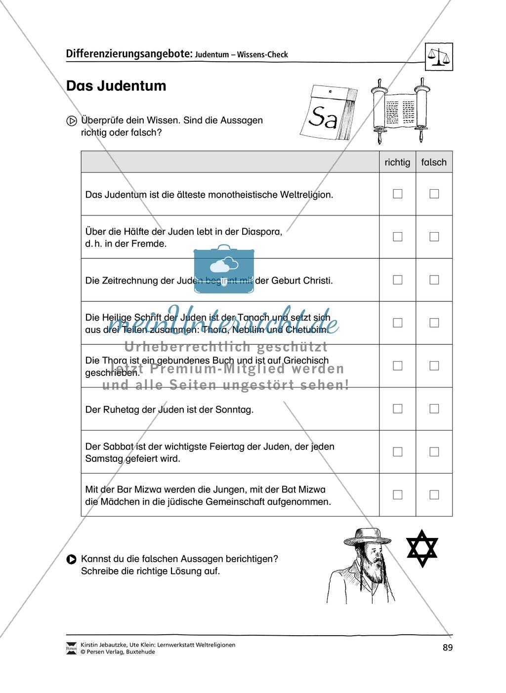 Lernwerkstatt zu den Weltreligionen Judentum, Christentum und Islam Preview 4