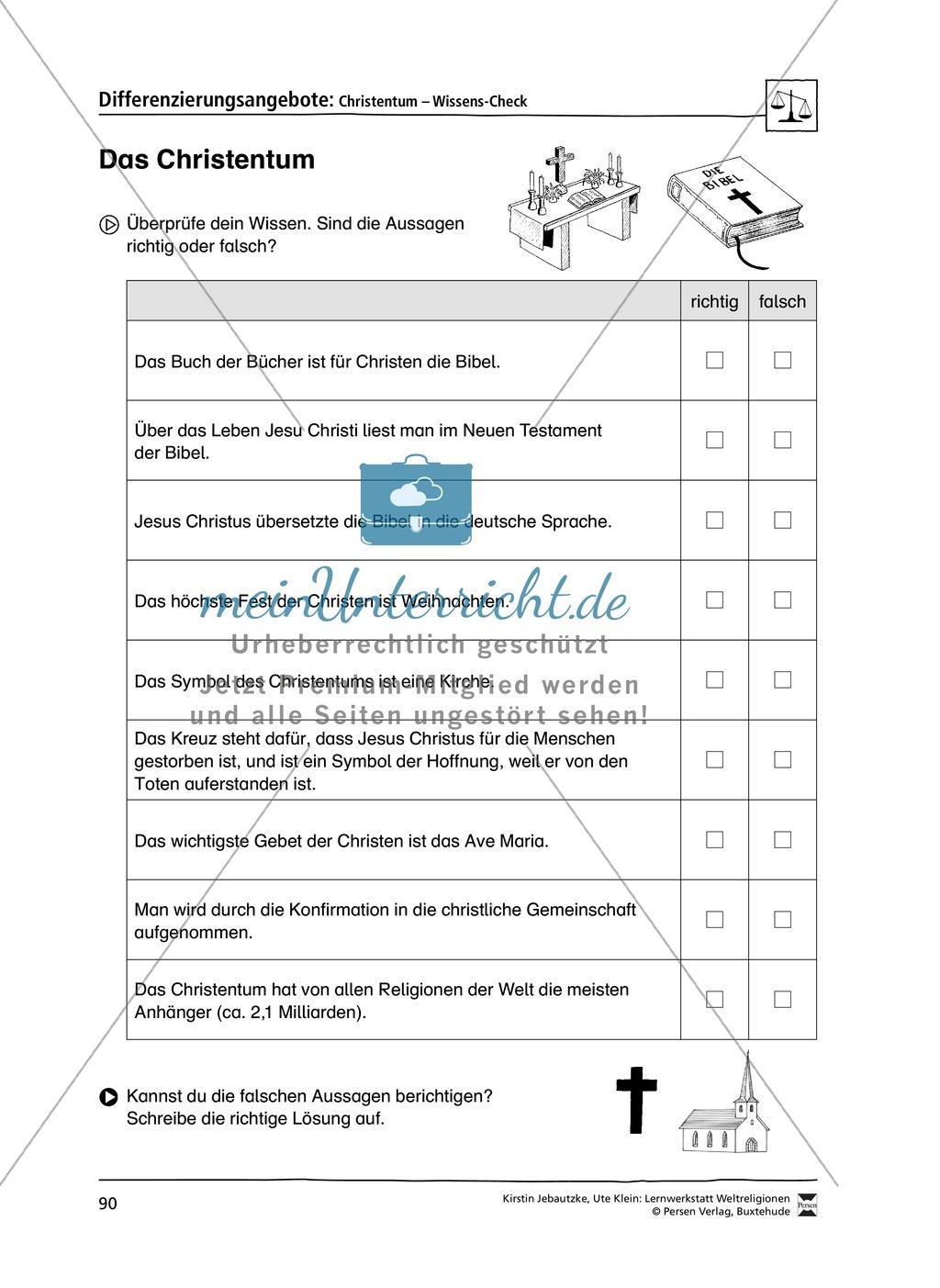 Lernwerkstatt zu den Weltreligionen Judentum, Christentum und Islam Preview 5