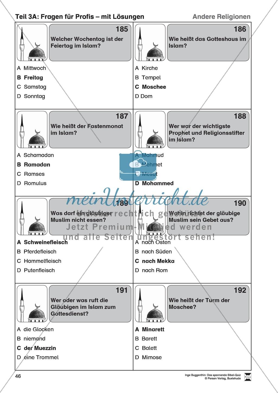 Bibel-Quiz: Fragen für Profis mit Lösungen Preview 6