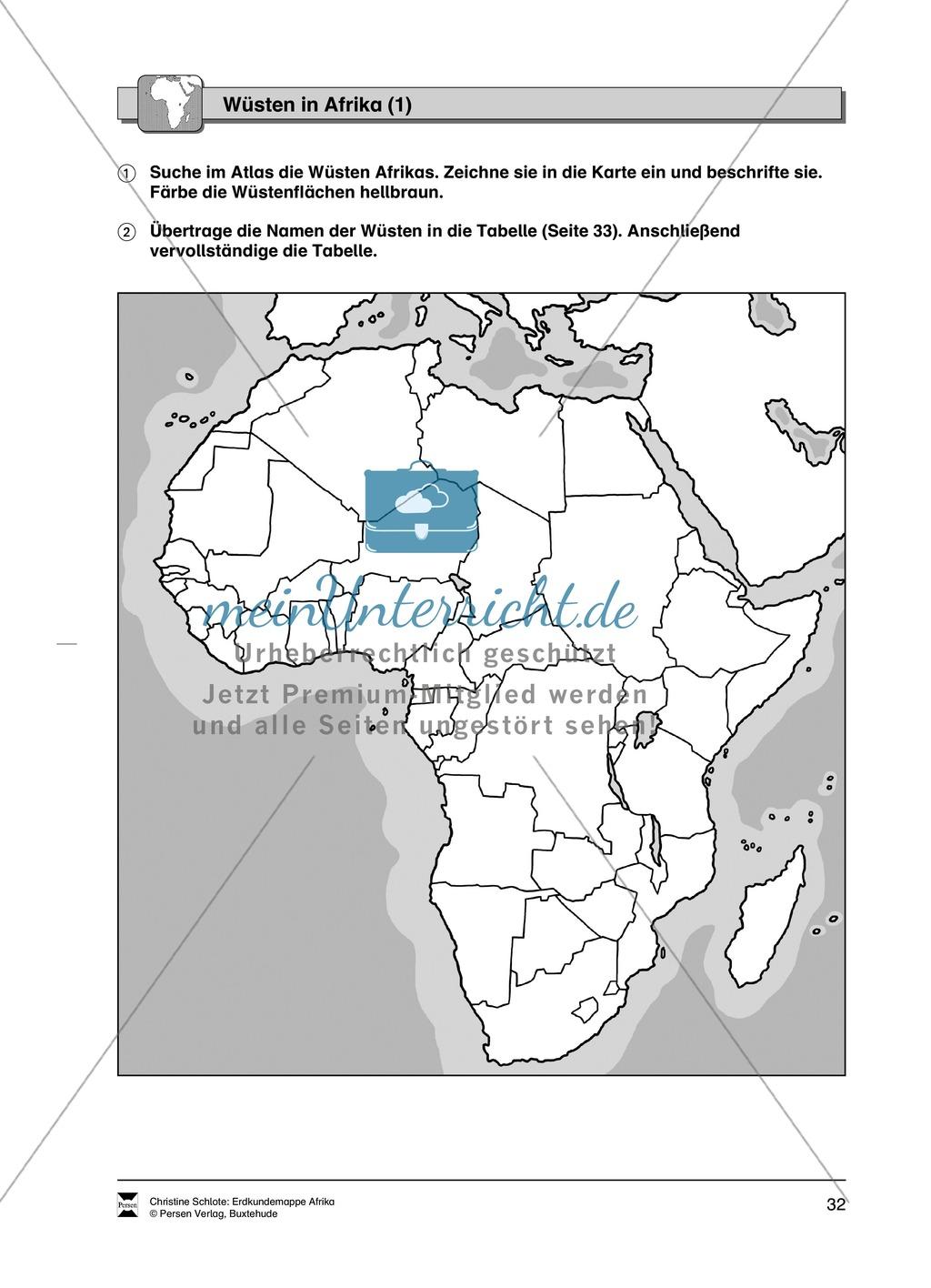 Kopiervorlage zum Klima des Kontinents Afrika: Lückentexte + Klimadiagramme + Karten Preview 13