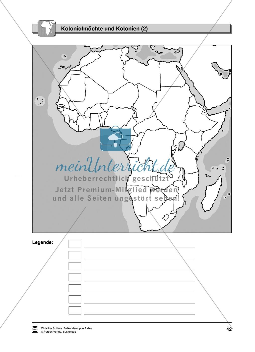 Kopiervorlagen zum Kolonialismus in Afrika: Lückentext + Karte Preview 2
