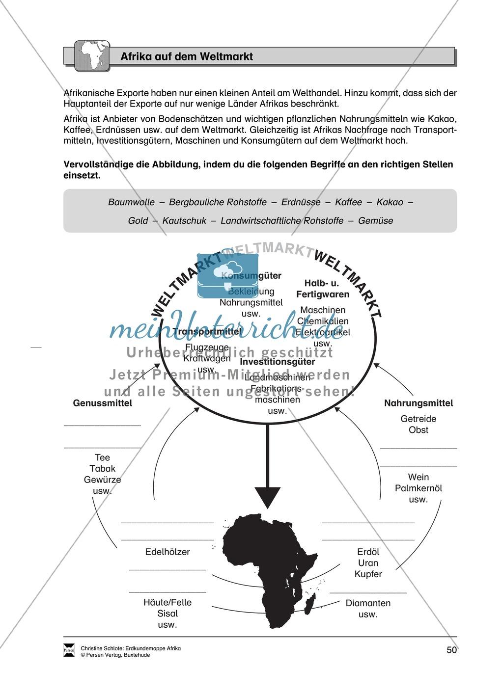 Kopiervorlagen zu Bodenschätzen und Industrie in Afrika: Rätsel + Atlantenarbeit Preview 7