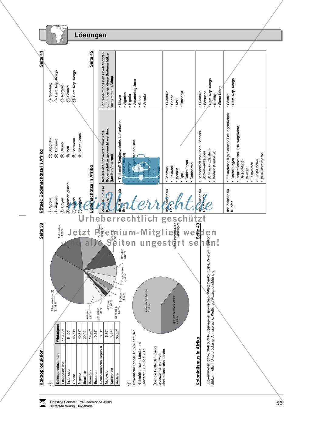Kopiervorlagen zu Bodenschätzen und Industrie in Afrika: Rätsel + Atlantenarbeit Preview 8