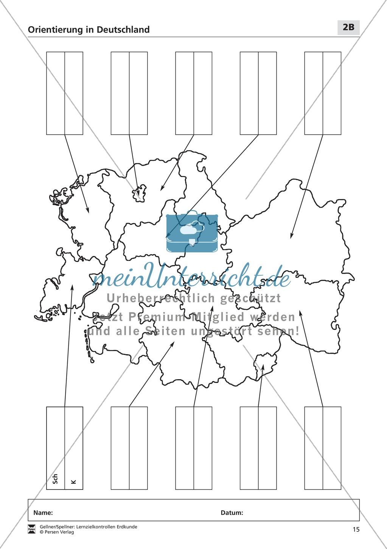 Lernzielkontrollen zur Topographie und Geomorphologie Deutschlands: Topographie Deutschlands + Küsten + Gebirge und Flüsse Preview 9