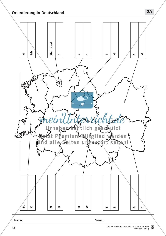 Lernzielkontrollen zur Topographie und Geomorphologie Deutschlands: Topographie Deutschlands + Küsten + Gebirge und Flüsse Preview 6