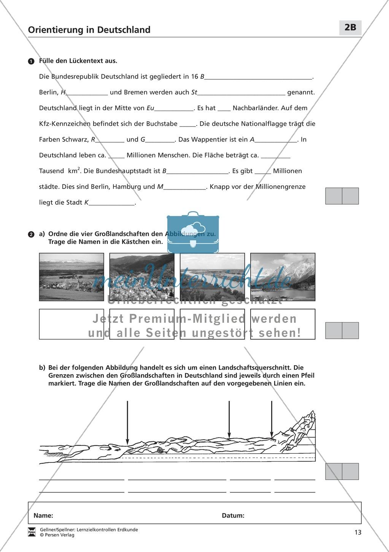 Lernzielkontrollen zur Topographie und Geomorphologie Deutschlands: Topographie Deutschlands + Küsten + Gebirge und Flüsse Preview 8