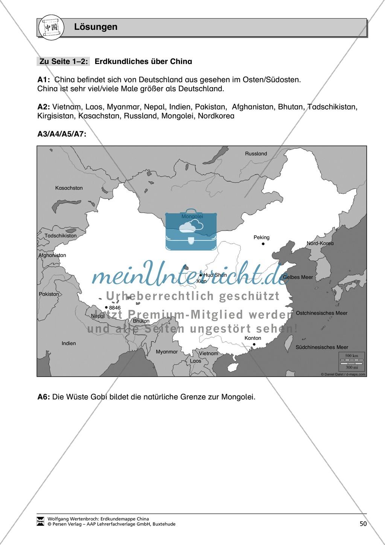 Spielerische Materialien zur Topographie Chinas Preview 16
