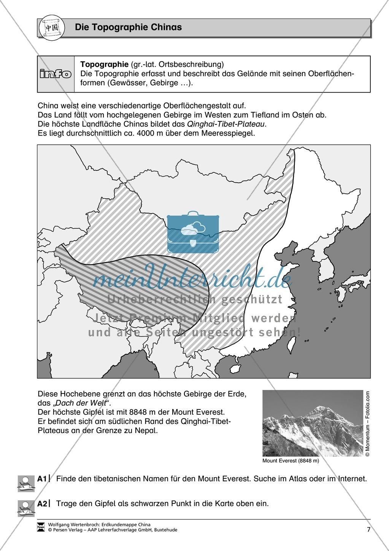 Spielerische Materialien zur Topographie Chinas Preview 7
