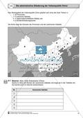 Erdkunde, Länderkunde, Siedlungsräume, Staaten, China, Länder, Städte, provinz(en), topogrphie