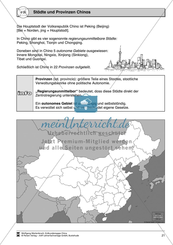 Die administrative Gliederung Chinas spielerisch kennen lernen: Provinzen + Städte Preview 2