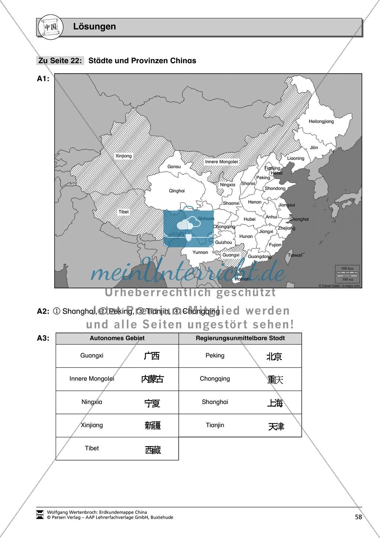 Die administrative Gliederung Chinas spielerisch kennen lernen: Provinzen + Städte Preview 6