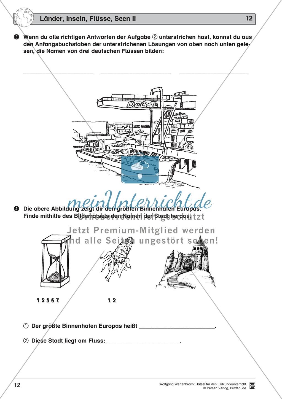 Rätsel zur Orientierung in Deutschland: Nachbarstaaten + Topographie Preview 7