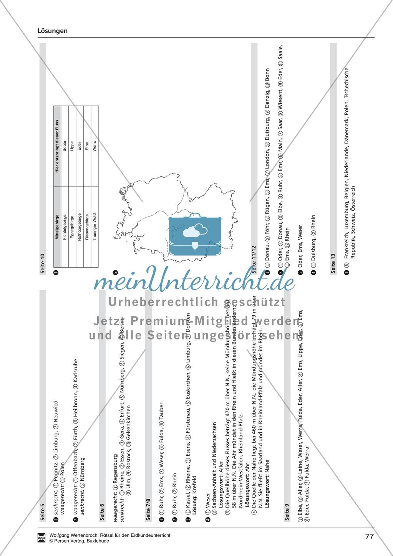 Rätsel zur Orientierung in Deutschland: Nachbarstaaten + Topographie Preview 8