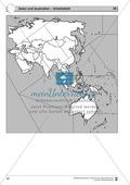Rätselaufgaben zu Asien und Australien - mit Extra-Aufgaben zu Russland +  China + Japan + Indien Thumbnail 1