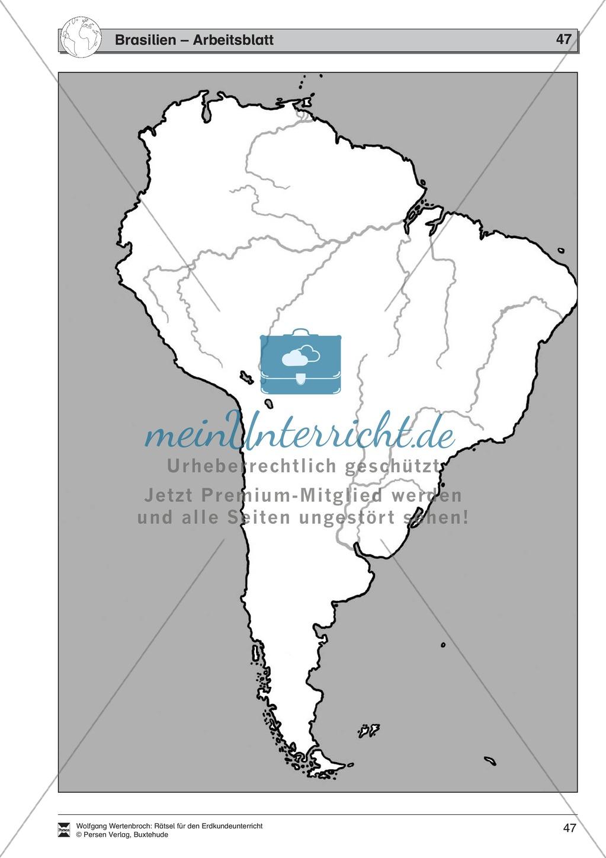 Rätselaufgaben zum Kontinent Amerika: Staaten der USA + Staaten Südamerikas + Brasilien Preview 10