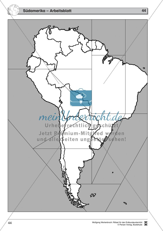 Rätselaufgaben zum Kontinent Amerika: Staaten der USA + Staaten Südamerikas + Brasilien Preview 7