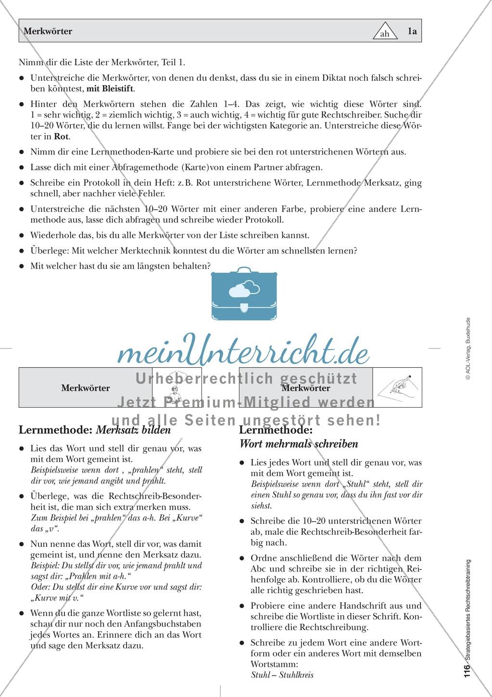 Abweichungen bei der Ableitung: Merkwörter in der stategiebasierten Rechtschreibübung: Informationstext für Lehrer mit Übungsaufgaben zum Thema Preview 5