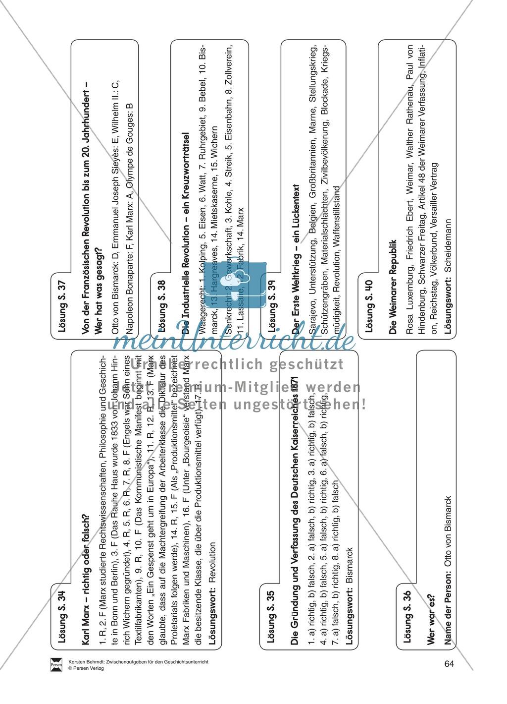 Multiple-Choice Rätsel zur Gründung und Verfassung des Deutschen Kaiserreichs 1871 Preview 1