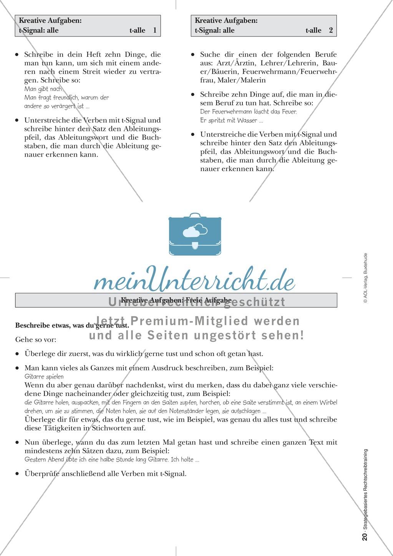 Rechtschreibung: Das t-Signal - Wissenschaftliche Grundlagen und Arbeitsmaterialien Preview 11