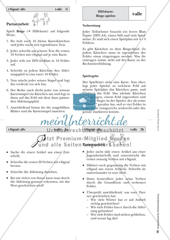 Rechtschreibung: Das t-Signal - Wissenschaftliche Grundlagen und Arbeitsmaterialien Preview 7