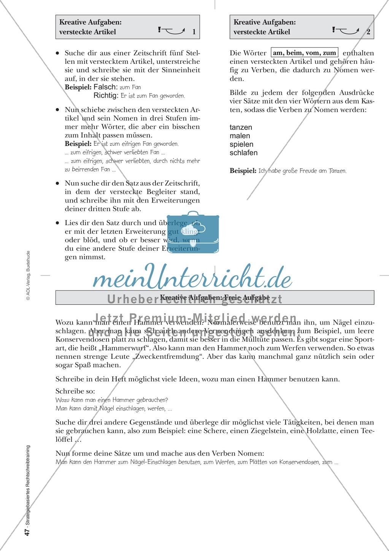 Rechtschreibung: Begleitersuche - Versteckte Artikel - Wissenschaftliche Grundlagen und Arbeitsmaterialien Preview 8
