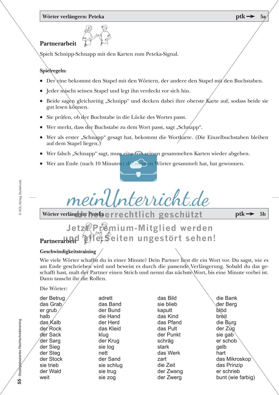 Rechtschreibung: Wörter verlängern - Das Peteka-Signal - Auslautverhärtung - Wissenschaftliche Grundlagen und Arbeitsmaterialien Preview 7