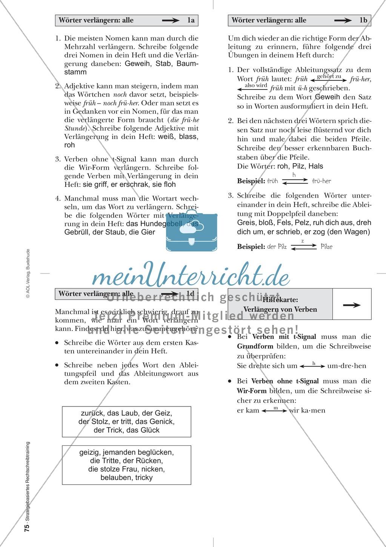 Rechtschreibung: Wörter verlängern - Doppelkonsonanten - Wissenschaftliche Grundlagen und Arbeitsmaterialien Preview 11