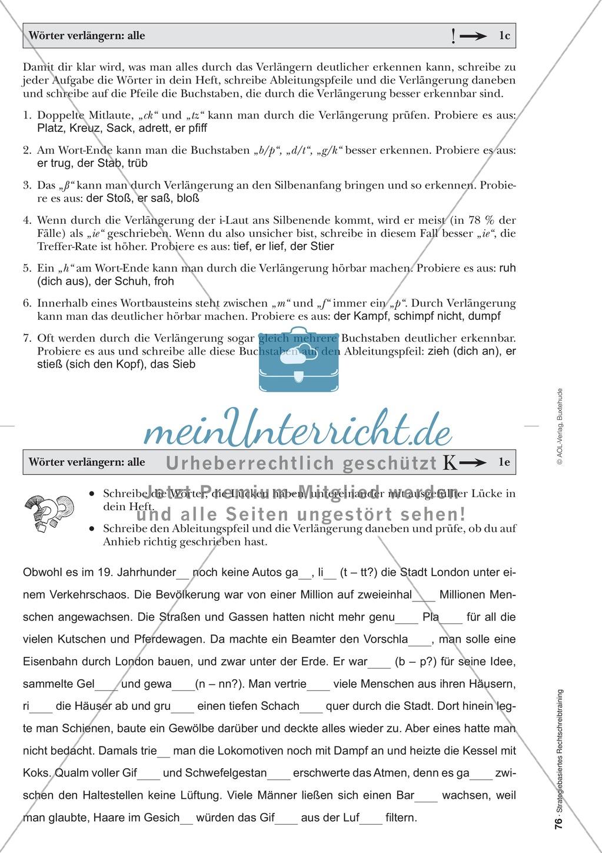 Rechtschreibung: Wörter verlängern - Doppelkonsonanten - Wissenschaftliche Grundlagen und Arbeitsmaterialien Preview 12