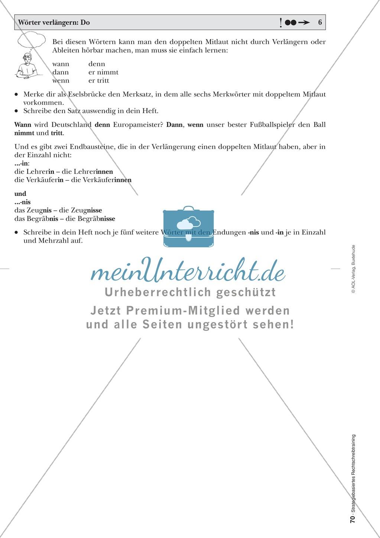 Rechtschreibung: Wörter verlängern - Doppelkonsonanten - Wissenschaftliche Grundlagen und Arbeitsmaterialien Preview 6