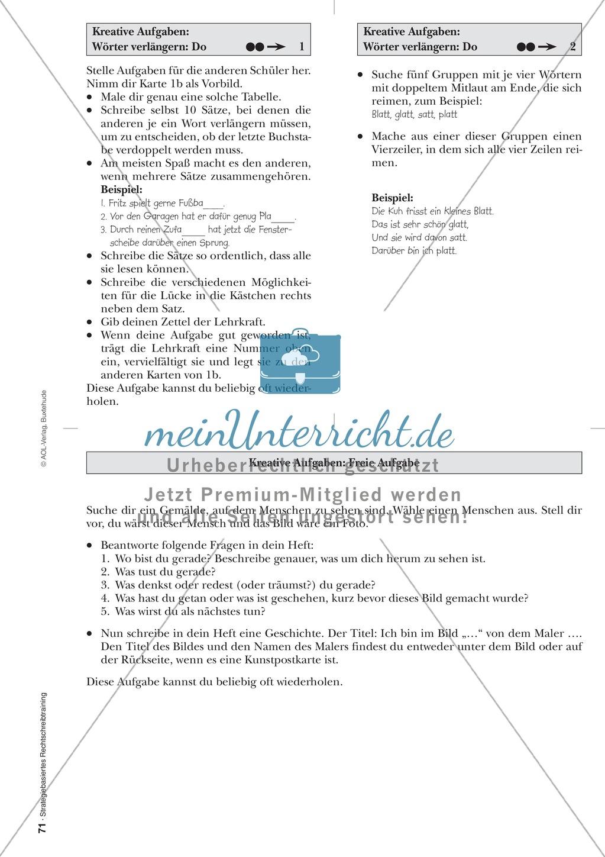 Rechtschreibung: Wörter verlängern - Doppelkonsonanten - Wissenschaftliche Grundlagen und Arbeitsmaterialien Preview 7