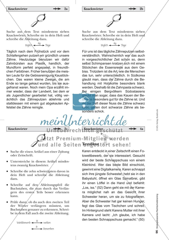 Rechtschreibung: Knackswörter - Wortbausteine - Morpheme - Wissenschaftliche Grundlagen, Arbeitsmaterialien und Kartenspiel Preview 16