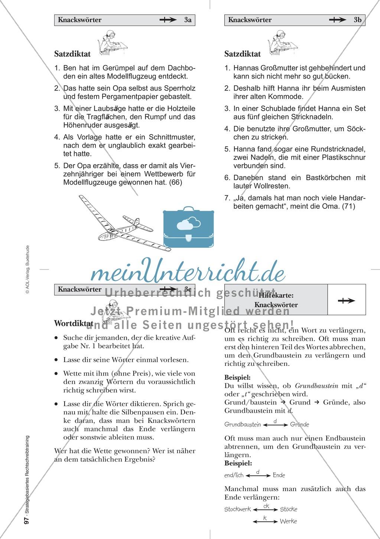 Rechtschreibung: Knackswörter - Wortbausteine - Morpheme ...