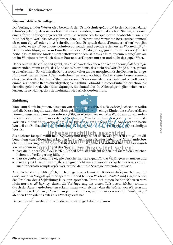 Rechtschreibung: Knackswörter - Wortbausteine - Morpheme - Wissenschaftliche Grundlagen, Arbeitsmaterialien und Kartenspiel Preview 0