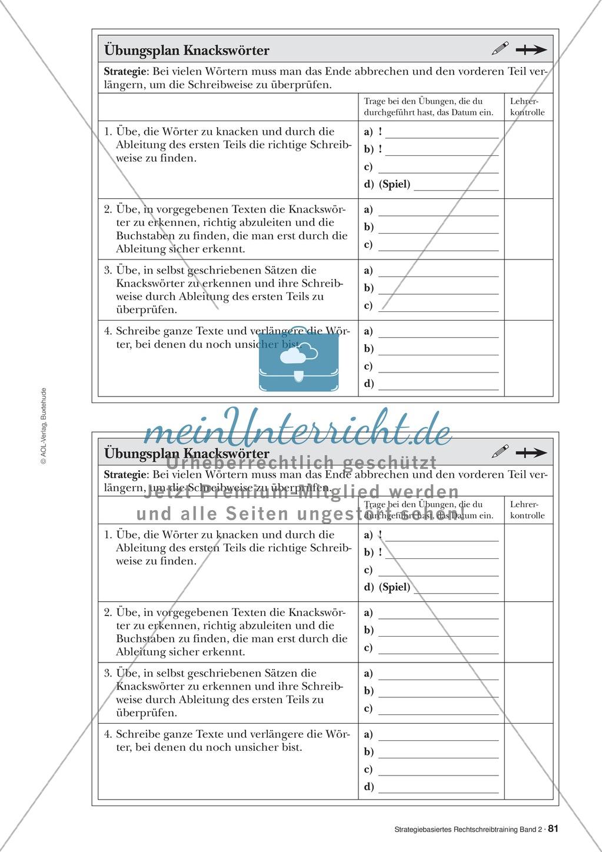 Rechtschreibung: Knackswörter - Wortbausteine - Morpheme - Wissenschaftliche Grundlagen, Arbeitsmaterialien und Kartenspiel Preview 1