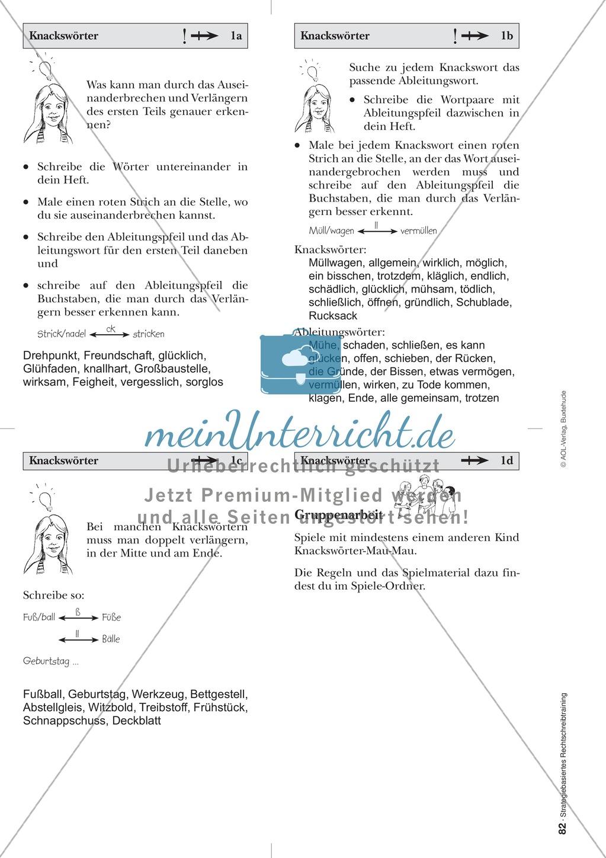 Rechtschreibung: Knackswörter - Wortbausteine - Morpheme - Wissenschaftliche Grundlagen, Arbeitsmaterialien und Kartenspiel Preview 2