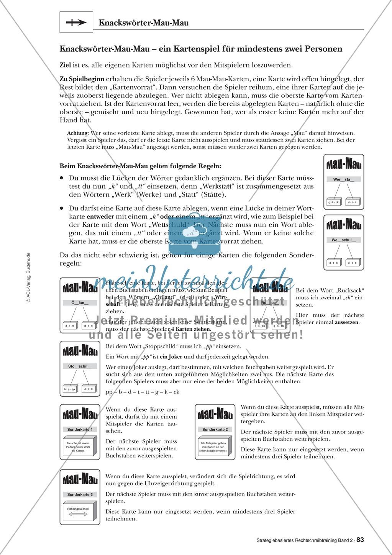 Rechtschreibung: Knackswörter - Wortbausteine - Morpheme - Wissenschaftliche Grundlagen, Arbeitsmaterialien und Kartenspiel Preview 3