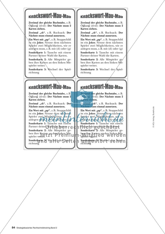 Rechtschreibung: Knackswörter - Wortbausteine - Morpheme - Wissenschaftliche Grundlagen, Arbeitsmaterialien und Kartenspiel Preview 4