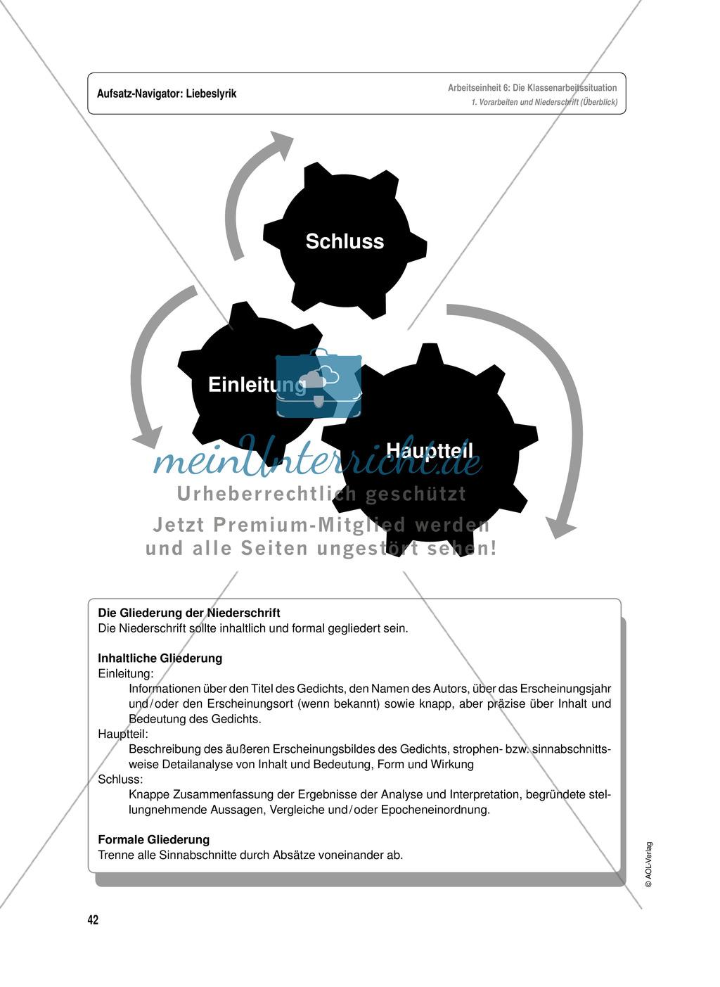 Arbeitseinheit zur Gestaltung einer Analyse / Interpretation von ...