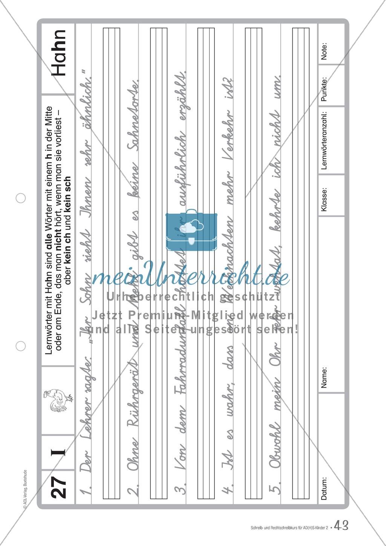 Zusatzaufgaben zur Rechtschreibübung mit Textübungsbögen für Kinder mit ADS/ADHS Preview 28