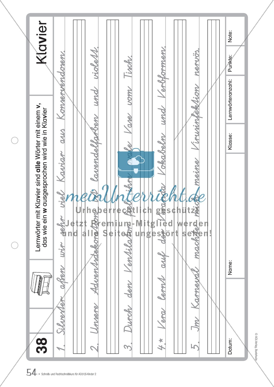 Zusatzaufgaben zur Rechtschreibübung mit Textübungsbögen für Kinder mit ADS/ADHS Preview 39
